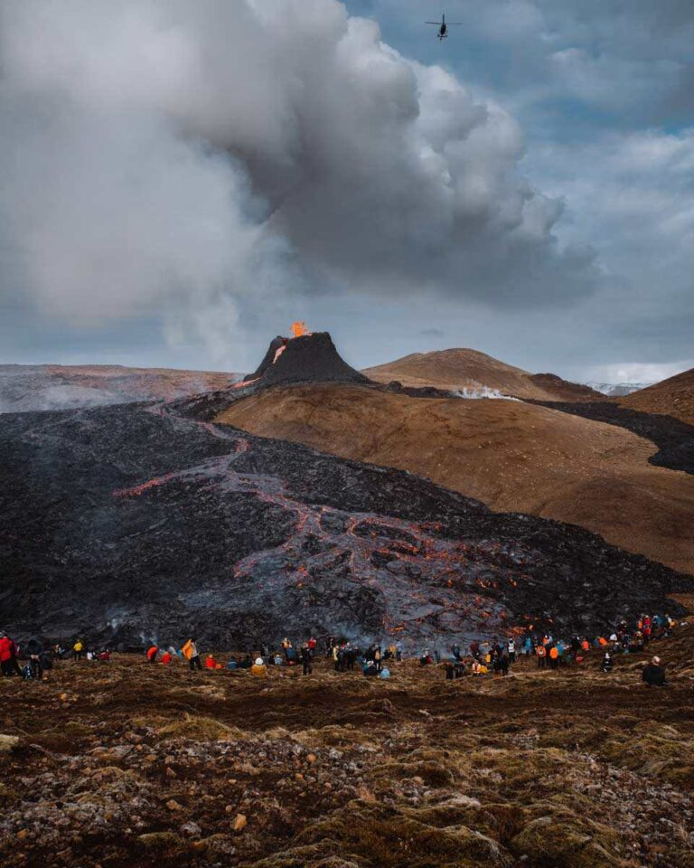 Spontaneous Spirit of Humanity Takes Center Stage Around Erupting Iceland Volcano