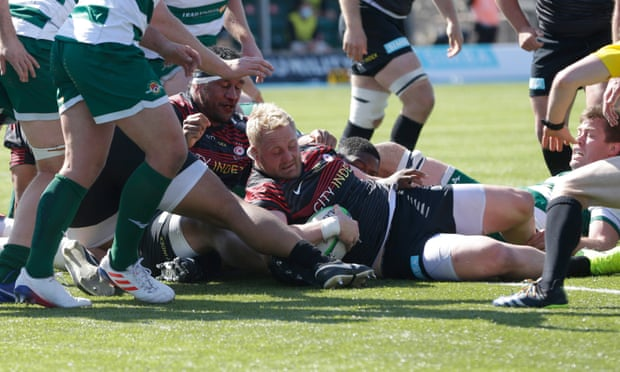 Vincent Koch leads Saracens to victory over Championship leaders Ealing